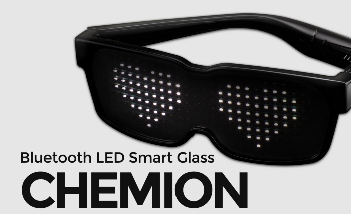 Led Glasses With Scrooling Display Chemion Led