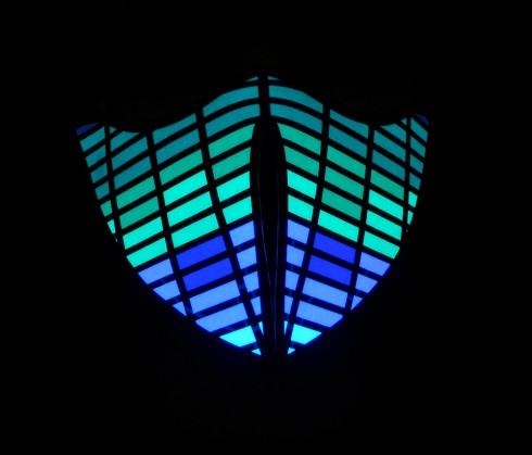 Equalizer Rave mask - sound sensitive | Led flashing masks | GET-a