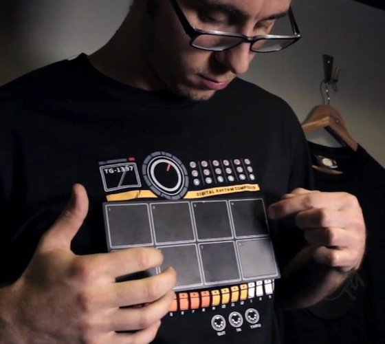 Electronic drum T-shirt with percussion   LED t-shirts ...