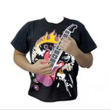 T shirt geek - Playing guitar