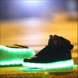 Lighting LED shoes - Black sneakers