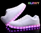 Lighting LED bluetooth shoes - White