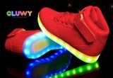 Lighting LED shoes - Red sneakers
