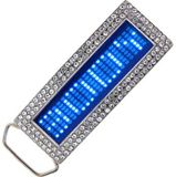 Led belt buckle - Blue diamond