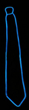 Blue neon tie