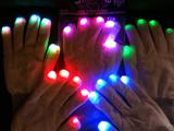 LED gloves - White