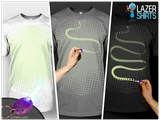 Laser t-shirt - Draw your motive