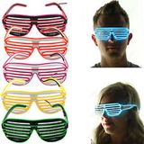 Flashing grille glasses - White