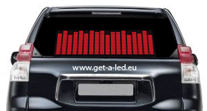 Sound Car Stickers Red 42 X11 Cm