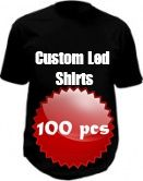 Custom led shirts package - 100 pcs
