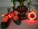 Glow shoelaces - red