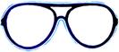 Neon glasses - Blue