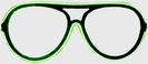 Neon Glasses - Green