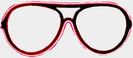 Neon glasses - Red