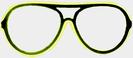 Neon glasses - yellow