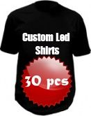 Custom led shirts package - 30 pcs