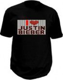 Justin bieber t-shirt - Flashing LED