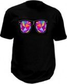 Kaleidoscope glasses T-shirt