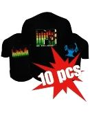Led T-shirts - 10x Pack