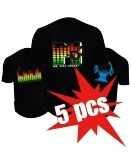 Led T-shirts - 5x Pack