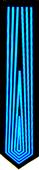 LED tie - Tron Blue