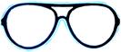 Neon glasses - White