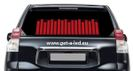 Sound activated car sticker - Red 70 x16 cm